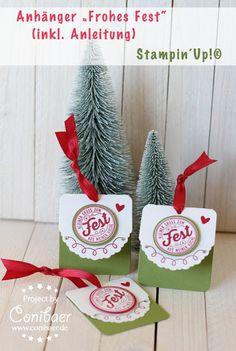 www.conibaer.de Anleitung für einfache Geschenkanhänger zu Weihnachten #bigshot #basteln #geschenkverpackung #video #youtube #selbstgemacht #handgemacht - Tutorial for easy to make gift tags for Christmas #holidays #diy #xmas