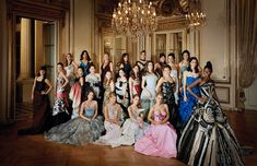 Debutantes from the french nobility and jet set