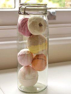 Lush bath bombs and bubble bar storage idea