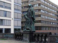 Saint Gertrude of Nivelles by Rudolf Siemering, Gertraudenbrücke (Gertrude Bridge), Berlin