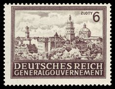 """Nazi stamp for the occupied part of Poland known as the General Government: """"Deutsches Reich Generalgouvernement"""""""