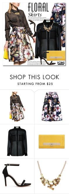 """""""The Perfect Summer Floral Skirt"""" by svijetlana ❤ liked on Polyvore featuring Yves Saint Laurent and Floralskirts"""
