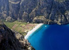 Kelebekler Vadisi (Butterfly Valley) beach close to Oludeniz, Turkey. Have to catch the boat between the Valley and Oludeniz (6 Euro/person)