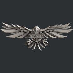 STL models for CNC Artcam Aspire harley davidson Harley Davidson Decals, Harley Davidson Wallpaper, Harley Davidson Dyna, Harley Davidson Motorcycles, Hals Tattoo Mann, Tattoo Hals, Biker Tattoos, Eagle Tattoos, Eagle Wallpaper