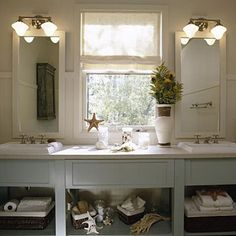 Master Bathroom Decorating & Design: Accent with Color - 65 Calming Bathroom Retreats - Southern Living