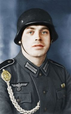 Alois Gilgenbach, colourised Wehrmacht soldier.