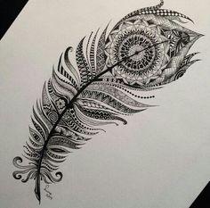 Tribal feather art