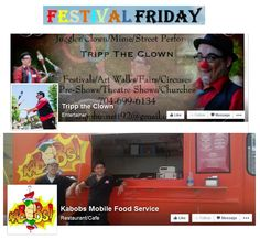 Who's ready for FESTIVAL FRIDAY? Festival hours are from 5:30 till 9:00. With Tripp the Clown & Kabobs Mobile Food Service