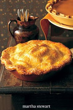 This apple pie recipe is filled with Granny Smith apples and is tucked into a buttery pie crust. To make this apple pie recipe even sweeter, serve it with a scoop of vanilla ice cream. #marthastewartliving #holidaydessert #easydessertrecipe #easyrecipes Apple Pie Recipes, Tart Recipes, Cooking Recipes, Old Fashioned Apple Pie, Granny Smith, Apple Crisp, Holiday Desserts, Sweet Treats, Good Food