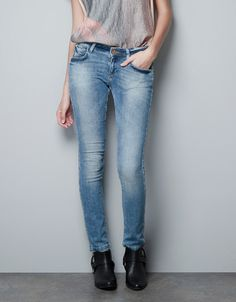 LIGHT BLUE SKINNY JEANS - Jeans - Woman - ZARA United States