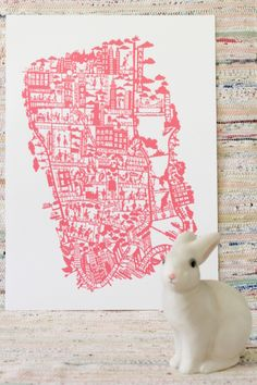 New York map print by FAMILLE SUMMERBELLE