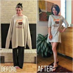 From oversized tee to comfy dress!
