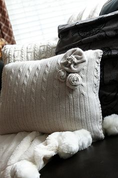 2 How-To's for Turning Sweaters and Shirts into Pillows ~ Krrb Blog