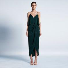 35bd37e5b4e Shona Joy Luxe Cocktail Frill Dress - Emerald