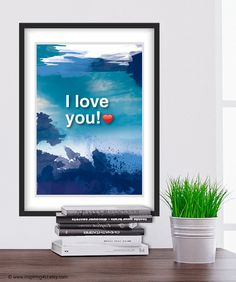 """"""" I LOVE YOU!"""" Hoʻoponopono healing Sentence poster. Typography poster. Wall decor. Meditation quote poster. Blue. Home decor art. Gift for her/him. A4.(Po-A4-061) -----------  4 healers Sentences by Ho'oponopono (ho-o-pono-pono) –ancient Hawaiian practice method (by Dr. Aihliaklh were Len) for healing physical and mental. Self I-Dentity Through Ho'oponopono (SITH).  The method according to which we must take full responsibility for everything in our lives. This is the main idea of Hoʻoponopono, Meditation Quotes, Typography Poster, Home Wall Decor, Quote Posters, Oeuvre D'art, Les Oeuvres, Most Beautiful Pictures, Sentences, I Love You"""