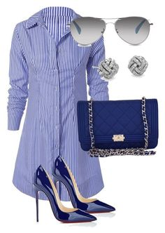 Untitled #127 by candicegeorge on Polyvore featuring Chanel, Christian Louboutin, Blue Nile and TOMS #skirtoutfits