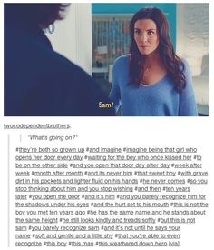 Sarah barely recognized Sam. And not just because of the hair. 8x22