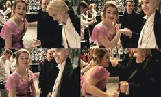 aw, cute little Emma Watson and Tom Felton dancing. I wonder if this was when she was crushing on him.