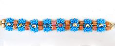 Free pattern for beaded bracelet Azul Click on link to get pattern - http://beadsmagic.com/?p=6357