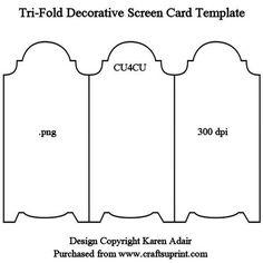quarter fold card templates