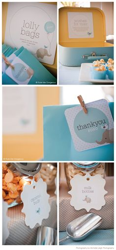 decorating ideas for naming ceremony party baby boy elephant