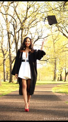 Toss the cap! I'm done! Graduation picture. Looks best done outside
