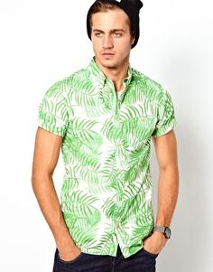 Image 1 ofSolid Shirt with Short Sleeves