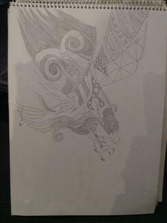 Speeding eagle