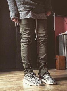 Image of VNTCH Slim Fit khaki Cotton Zip Pants