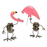 Bad Gnome Be Gones! Gnome kidnapping is one thing, but hurting cutie-pie flamingoes goes too far! (From @Uncommon Goods.)