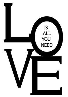 All you need is LOVE Fridge Art Magnet by FridgeArtMagnets on Etsy