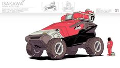 What it says on the tin. Cool Car Drawings, Cool Sketches, Cyberpunk Art, Cyberpunk Character, Car Design Sketch, Expedition Vehicle, Weapon Concept Art, Game Character Design, Robot Design