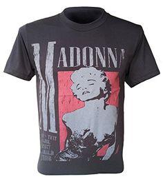 36f860612 Madonna Retro T-Shirt Rock Punk Metal Black QL-067 Madonna