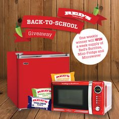 I just entered to win @RedsBurritos dorm essentials including a microwave & fridge. Enter here: http://woobox.com/6jp649/fqqu1a #giveaway