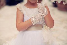 Lace Gloves for Flower Girls