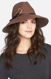 Hinge Feather Trim Panama Hat