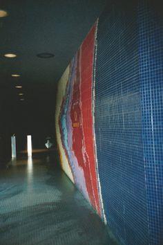 EPCOT's Universe of Energy Companion Site: Guest Relations Sliding Glass Door, Glass Doors, Energy Crisis, Epcot Center, Mosaic Wall, Vintage Disney, Disney Love, Walt Disney World, Angles