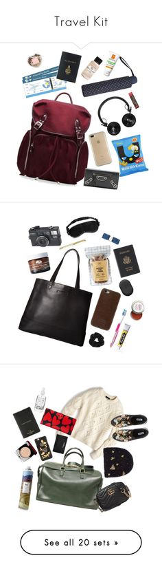 """""""Travel Kit"""" by xoxomuty ❤ liked on Polyvore featuring M Z Wallace, Speck, La Roche-Posay, Master & Dynamic, MANGO, Mark Cross, Balenciaga, Bumble and bumble, Burt's Bees and travel"""