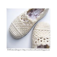 Lacey Wool Crochet Slippers Pdf-pattern. Handmade tailored insoles inserted, and tailored Crochet-Soles attached to the bottom!!