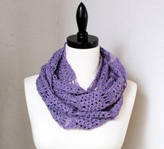 Blossom and Broomsticks Crochet Infinity Scarf - Knitting Patterns and Crochet Patterns from KnitPicks.com $2.99
