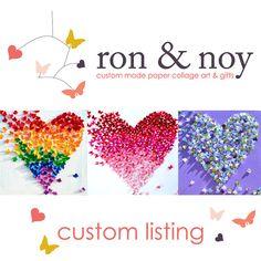 Butterfly Hearts / 3D Butterfly Wall Art / Nursery Decor /Children's Room / Wedding Gift