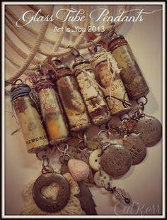 glass tube pendants. Cat Kerr: Art is You...Stamford