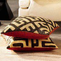 Kuba cloth cushion covers