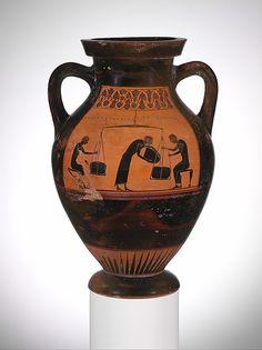 Signed by Taleides | Terracotta amphora (jar) | Greek, Attic | Archaic | The Met