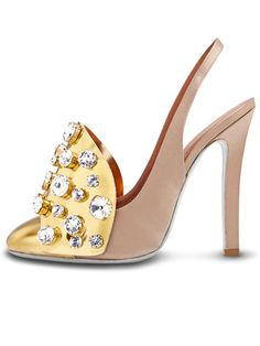 Jeweled pumps by Yves Saint Laurent to light up the night.