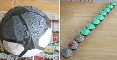 Death Star Pinata made from store bought Soccer ball pinata