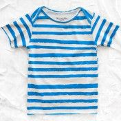 noé & zoë organic t-shirt - blue stripes