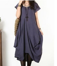 Irregular Designed Hem Sleeveless Linen Dress Custom-Made Fast Shipping