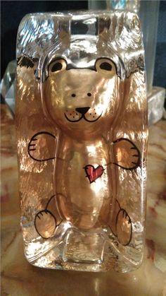 Sea Guld färgad gosebjörn med rött hjärta
