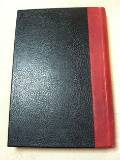 Tri-color leathers blank journal, back side.